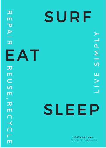 Eat, Surf & Sleep Poster -  - [shop name]