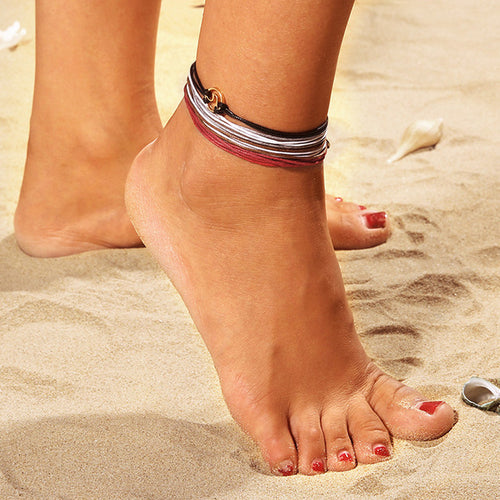 4pc Chain Anklet Jewelry Beach - Jewelry & Watches - [shop name]