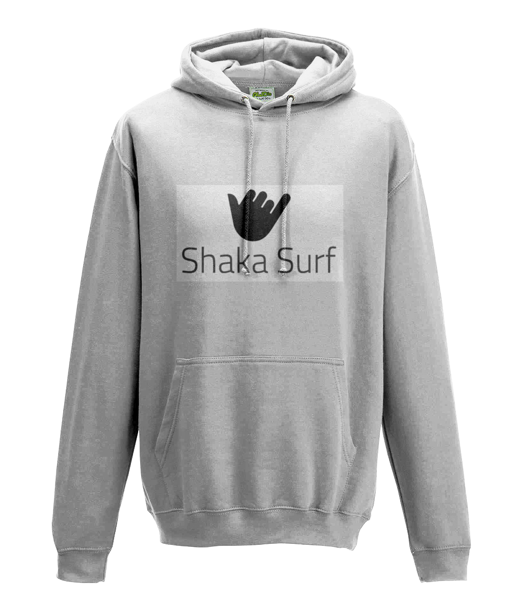 Shaka Surf College Hoodie - Ringspun Cotton - Grey - Suggested Products - [shop name]