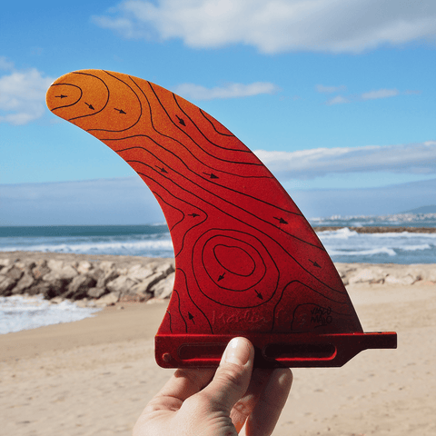 "Swell Lines Single Fin ORANGE 9""/7"" - 100% Recycled Materials - Made With Love -  - [shop name]"