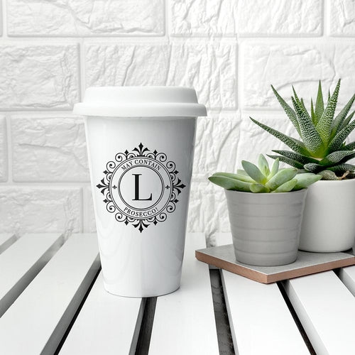 Personalised Monogrammed Ceramic Eco Cup - Gifts - [shop name]
