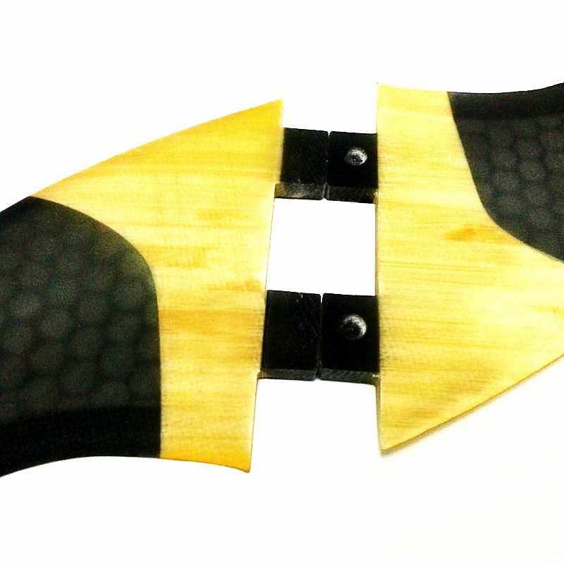 SUNRISE - FCS Quad Fins G5 + GX - Bamboo & Honeycomb Fibreglass - Fins - [shop name]