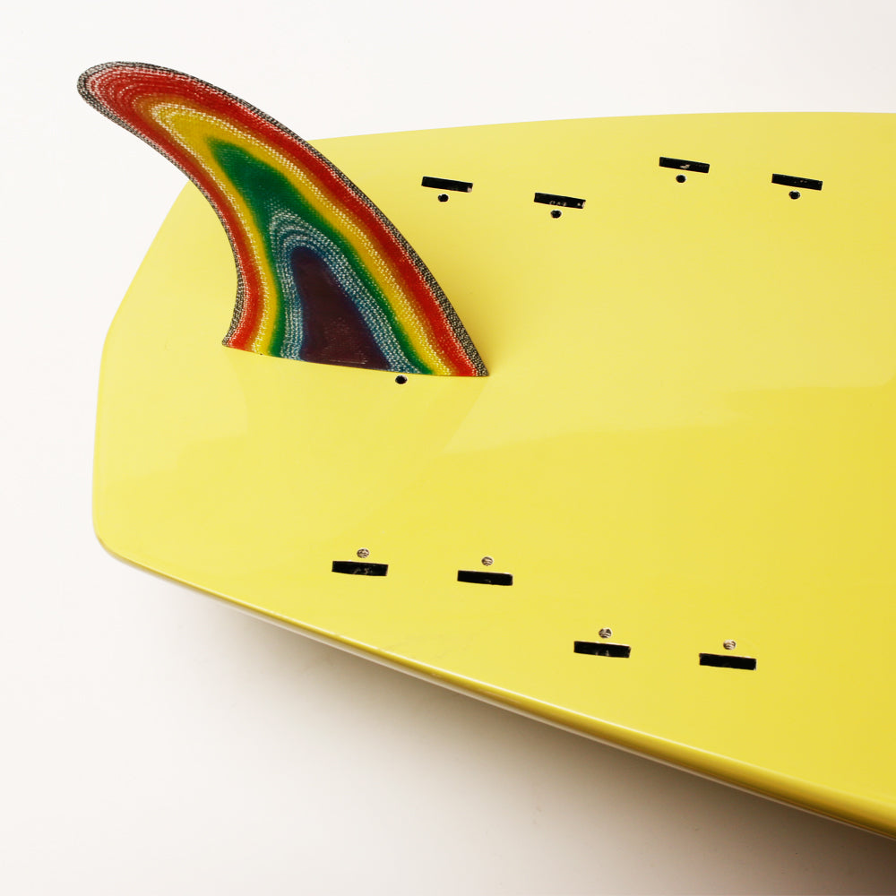TECHNOCOLOURDAZE: Colorful Single Fin for Longboard/Single Fins 6-10 inches - Fins - [shop name]