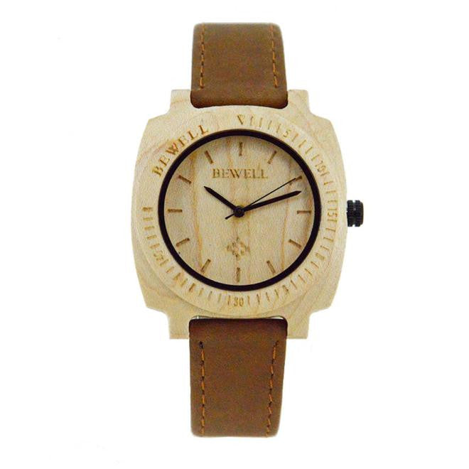 BEWELL - Womens Natural Wooden Quartz Watch  + Box - Watches - [shop name]