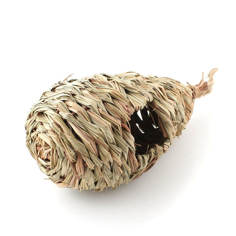 SHELTER - Natural Grass Woven Hanging Birdhouse Nest - birdhouse - [shop name]