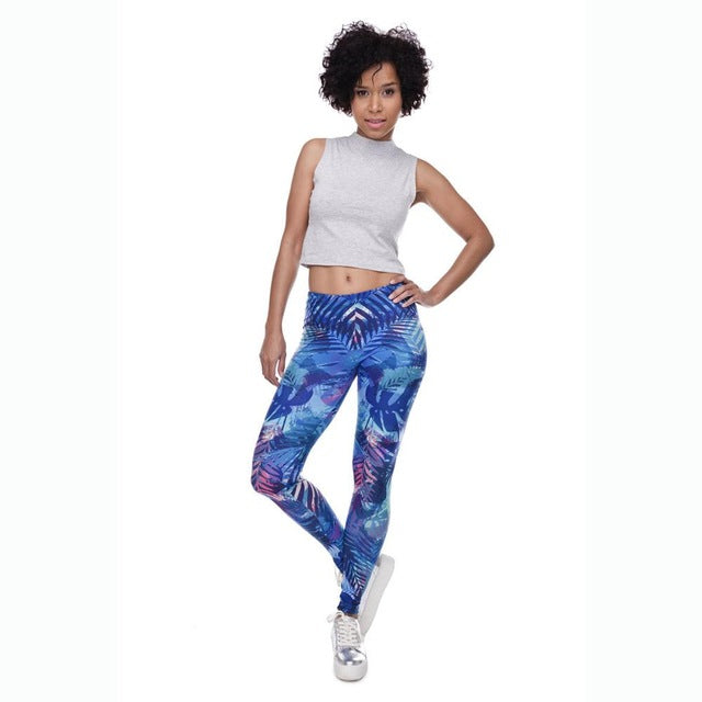 MUNDIAL - Yoga/Fitness Bright Leggings - Indian Inspired Design - Yoga - [shop name]