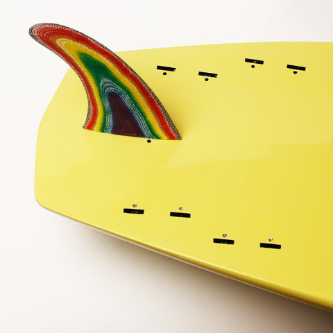 TRIPPYHIPPY - Rainbow Longboard Fin for FCS Fin Systems