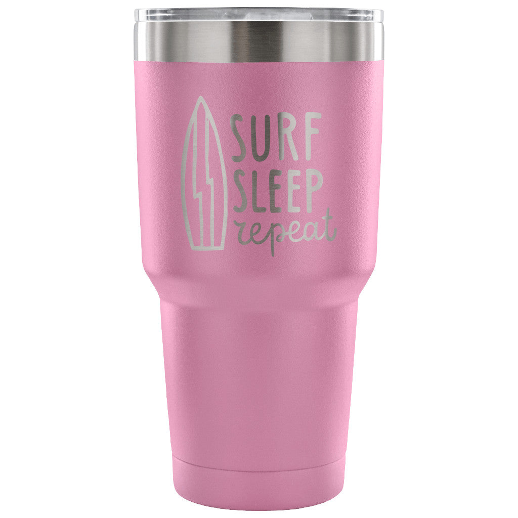 SHAKA SURF TRAVEL TUMBLER - Surf Sleep Repeat 30 oz Tumbler - Tumbler - [shop name]