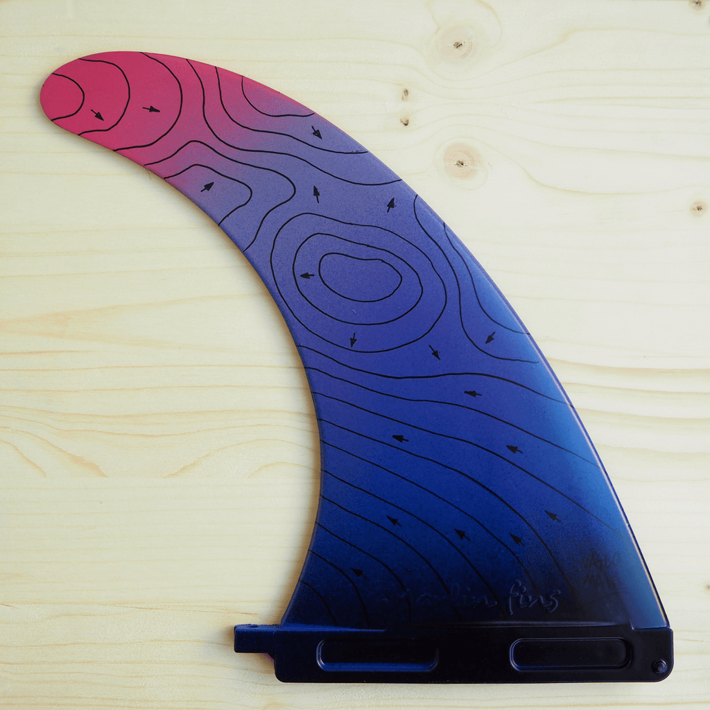 "Swell Lines Single Fin PURPLE 9""/7"" - 100% Recycled Materials -  - [shop name]"