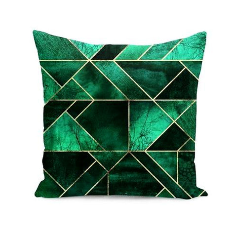 Abstract Nature - Emerald Green  Cushion/Pillow - Home & Garden - [shop name]