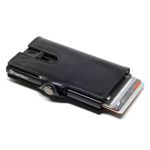 Card Blocr Credit Card Wallet in Black Leather | RFID Wallet