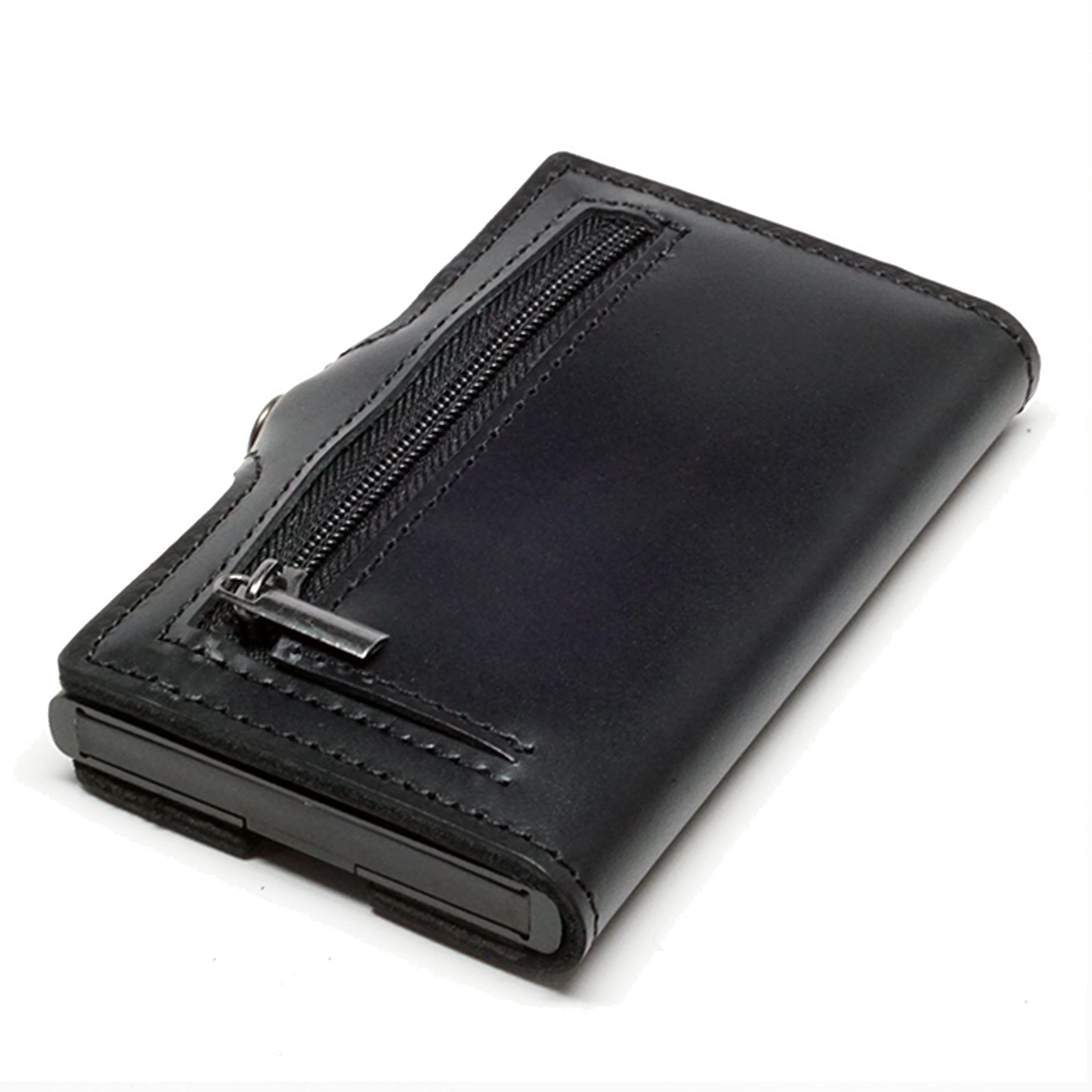 Card Blocr Credit Card Wallet in Black Leather | RFID Wallet Backside