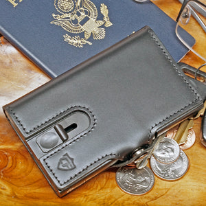 Card Blocr Credit Card Wallet in Black Leather | RFID Wallet Travel