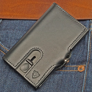 Card Blocr Credit Card Wallet in Black Leather | RFID Wallet Pocket