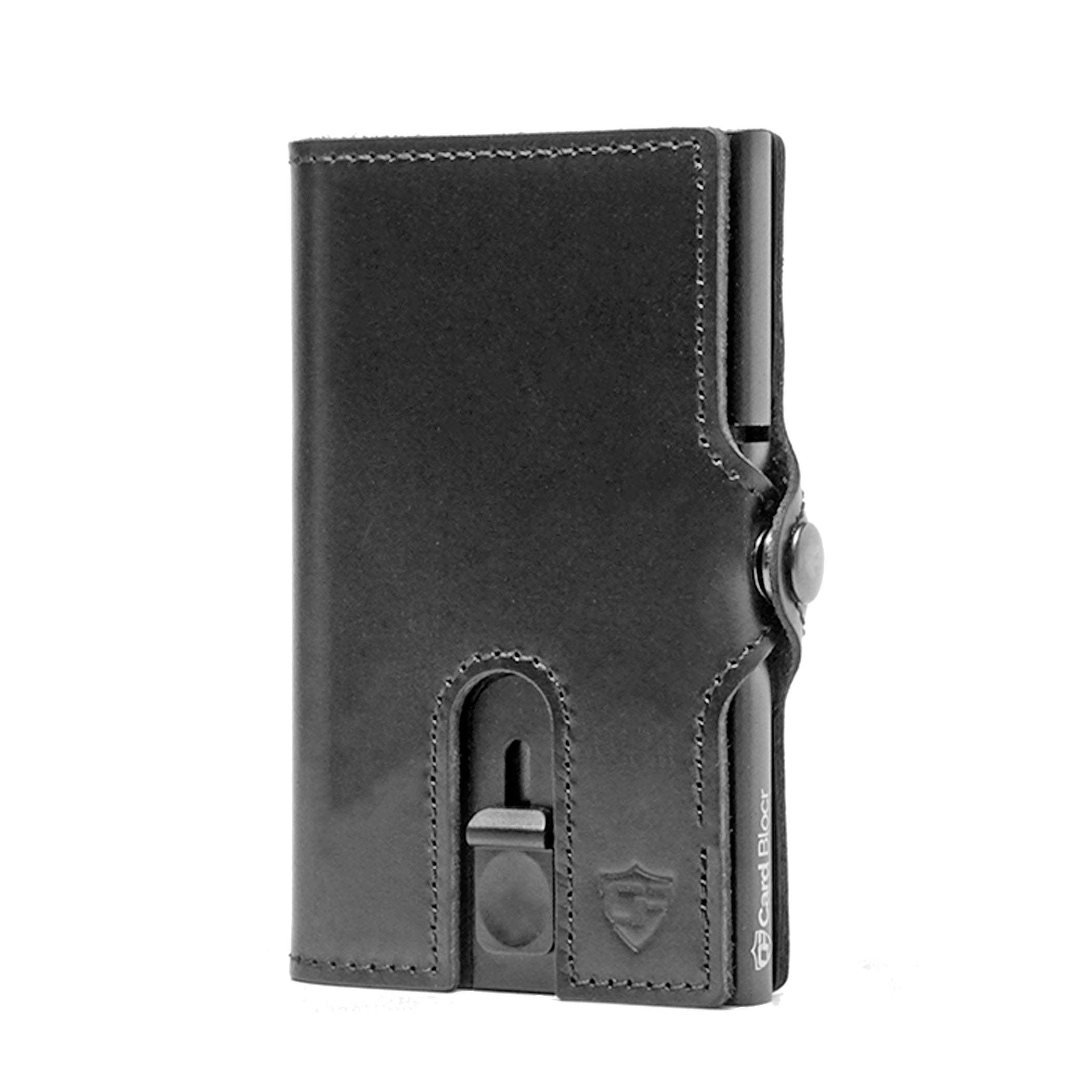 Card Blocr Credit Card Wallet in Black Leather | RFID Wallet Closed