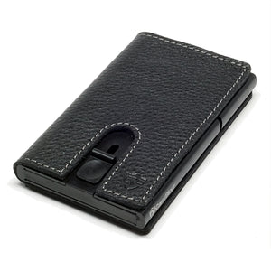 Card Blocr Credit Card Holder in Black Wrapped in Black Leather | RFID Wallet 45