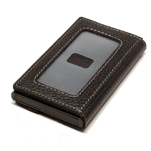 Card Blocr Credit Card Holder in Black Wrapped in Black Leather