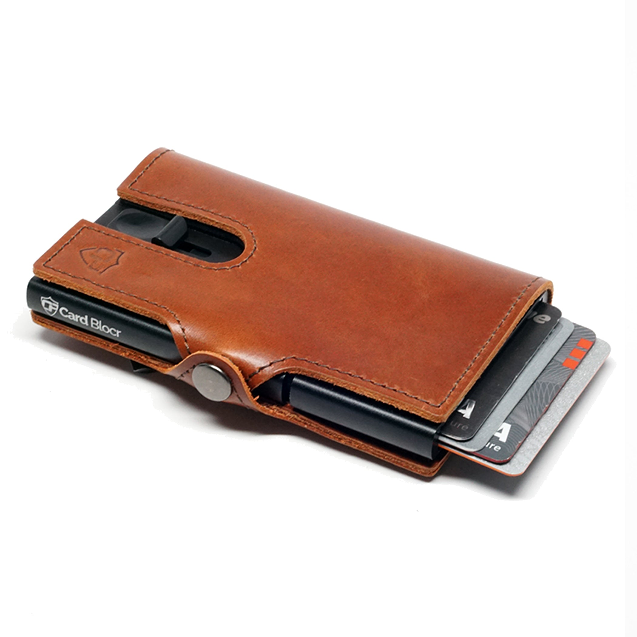 Card Blocr Credit Card Wallet in Brown Leather | RFID Wallet 45