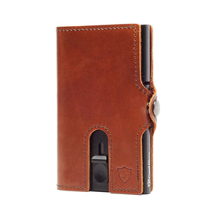 Card Blocr Credit Card Wallet in Brown Leather | RFID Wallet No Cards