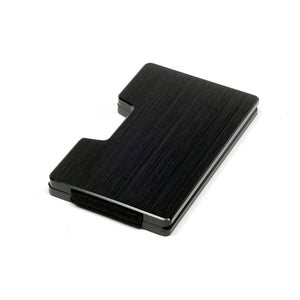Card Blocr Money Clip Wallet | RFID Blocking Credit Card Holder Milled Black Aluminum