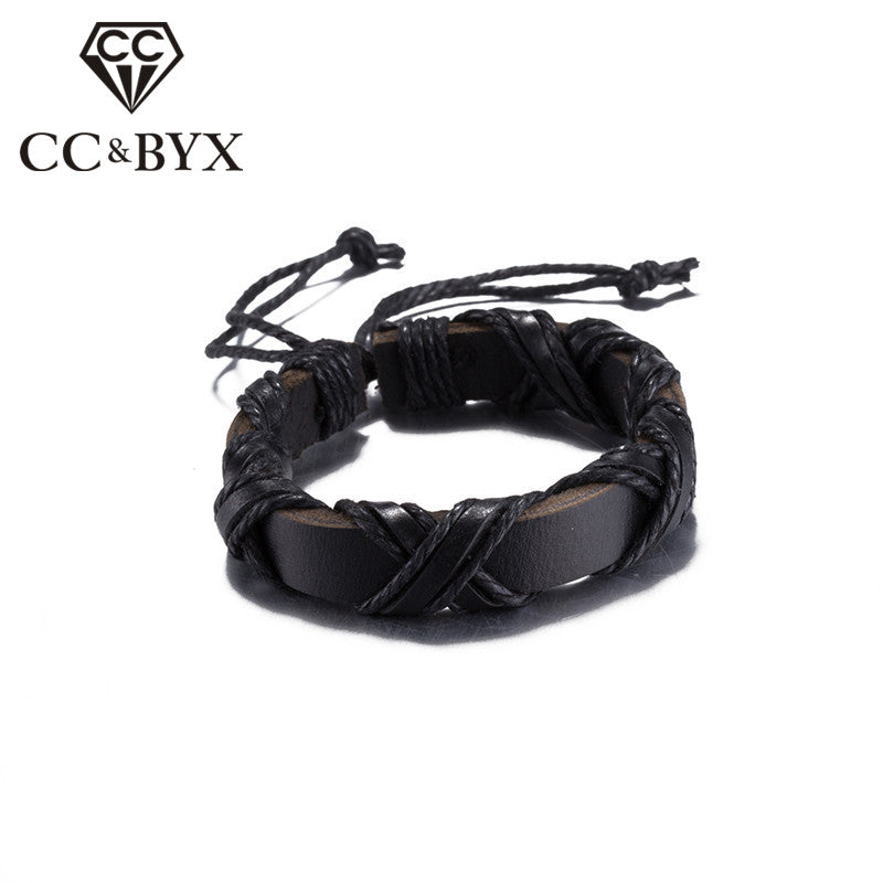 Black/Brown Color Viking Bracelets for Women Men Daily adjustable Fashion Jewelry Gifts Accessories Bijoux Unisex Bracelet SH030