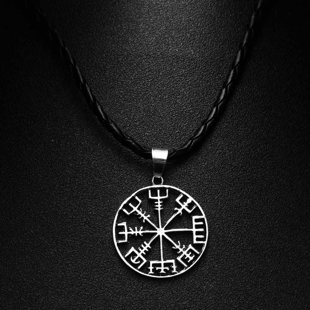 1Pc Newv Norse Vikings Arrow Myth Rune Amulet Pendant Necklace Luck Blessing Jewelry Cool Punk Nice Gift For Lover Friends