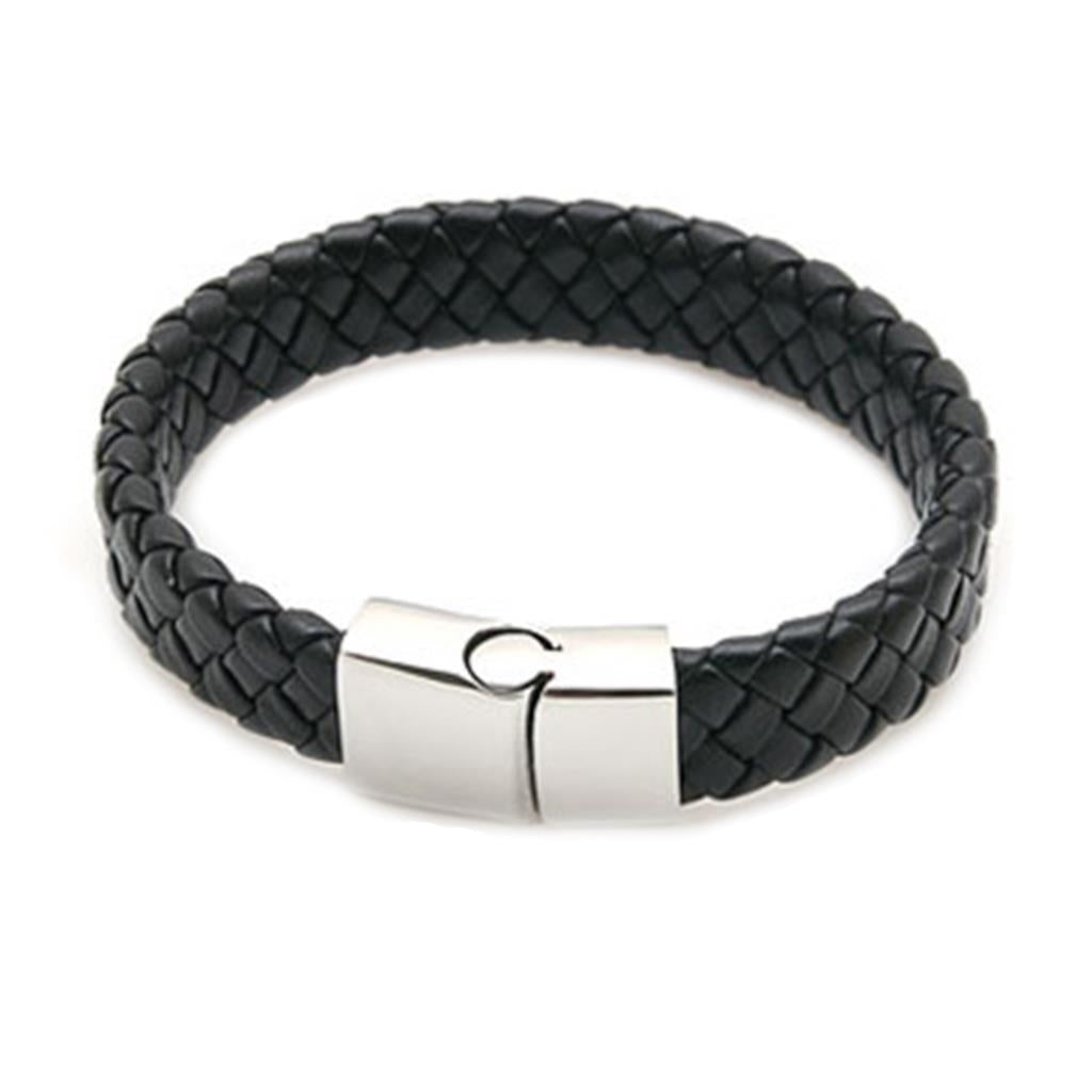 Men's Leather Titanium Steel Magnetic Bracelet & Bangle for Men