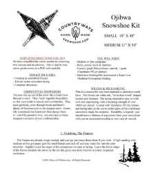 Snowshoe Lacing Patterns and Directions (download)