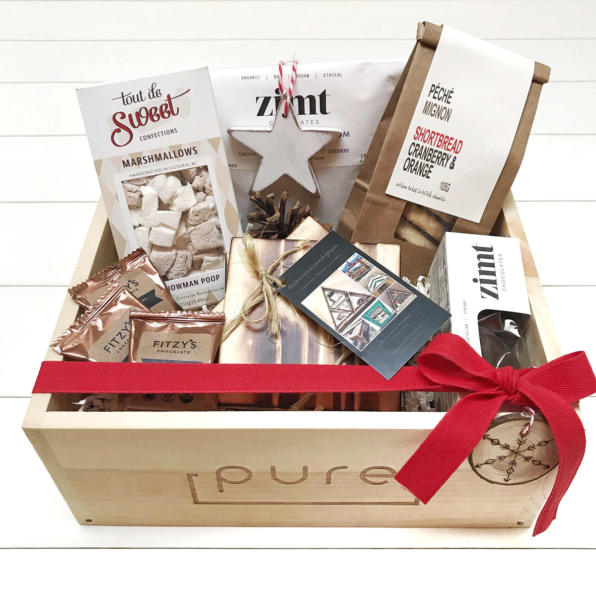 Squamish Christmas & Holiday Gift box basket for a family including treats for Santa