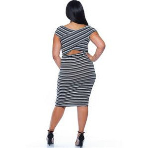 Peek A Boo Midi Dress - The Kurve