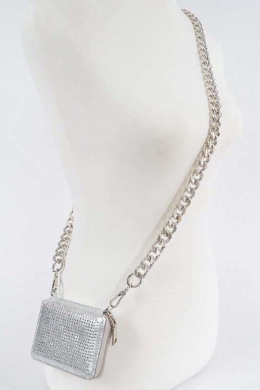 Rhinestone Chained Wallet