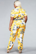 Yellow Utility Jumpsuit