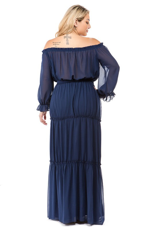Chiffon Tiered Maxi - The Kurve