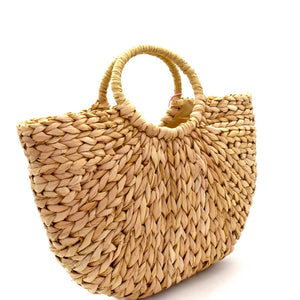 Woven Straw Bohemian Basket Bag - The Kurve