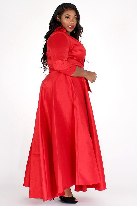 Taffeta Maxi Dress