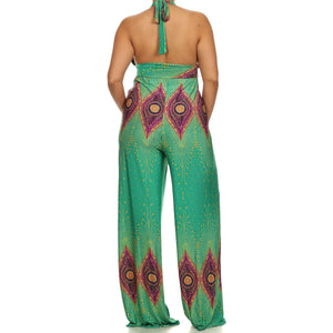 Jade Halter Jumpsuit - The Kurve