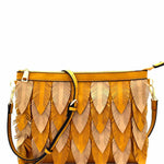 Two-Tone Leaf Shoulder Bag