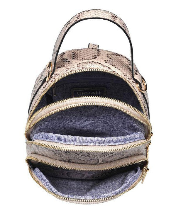 Mini Snake Print Back Pack