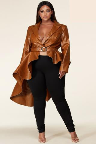 So Kurvy Peplum Jacket