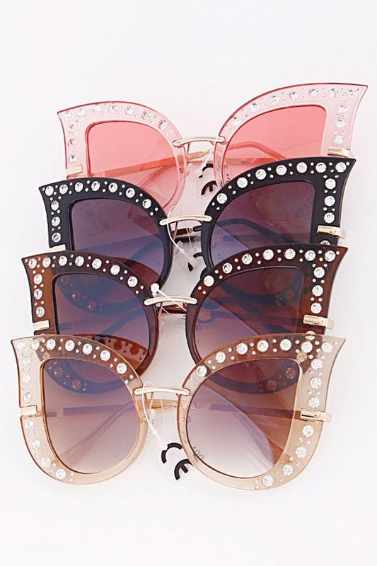 Jeweled Cat Eye Sunglasses