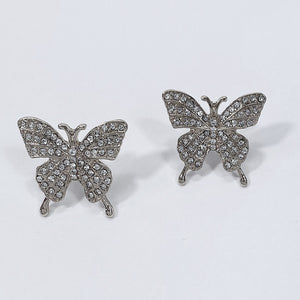 Butterfly Rhinestone Post Earrings