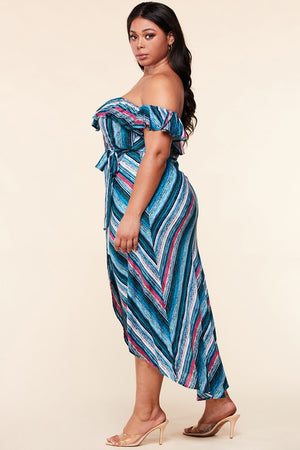 Hi Lo Wrap Dress