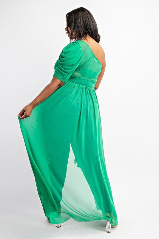 Short 1 Sleeve Maxi Cascade Top