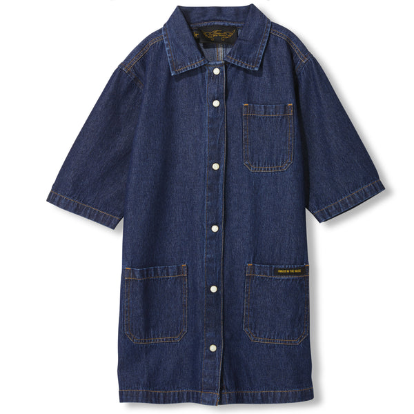 191080200 Creston Dress - Blue Denim