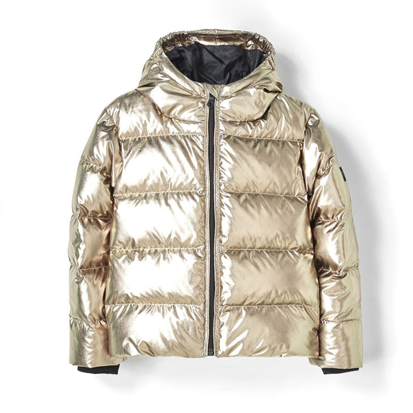 Girl Woven Down Jacket - Copper