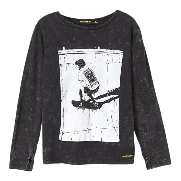 Boy Knitted Long Sleeves T-shirt