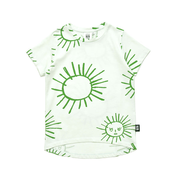 Little Man Happy - Green Sun Longline Shirt