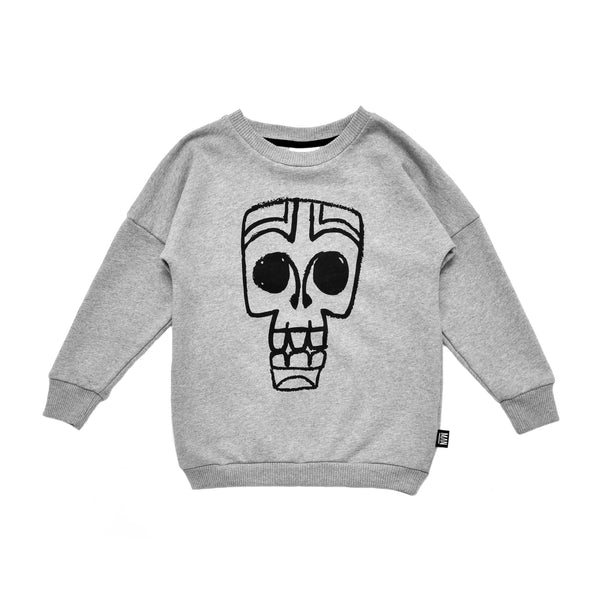 Little Man Happy - Tiki Mask Loose Sweater