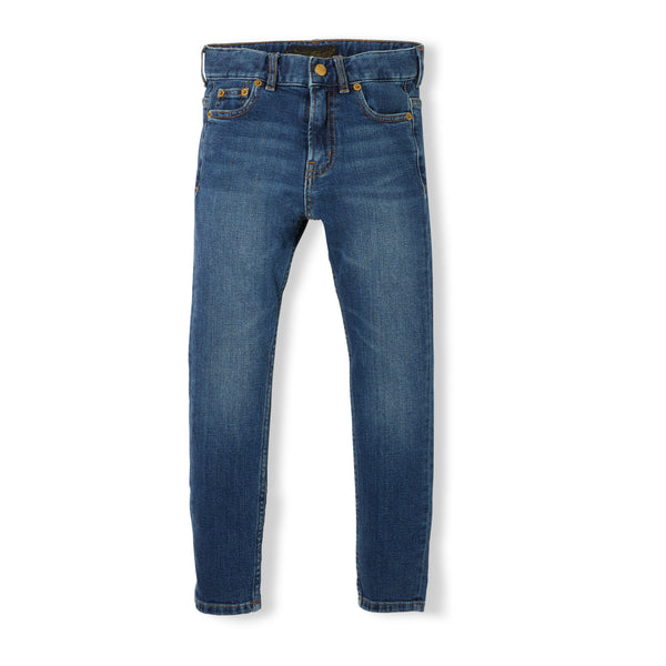 New norton 5 Pocket straight fit jeans - dark denim blue