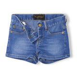 Nova 5 Pocket mini shorts - Blue denim